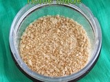 Home made bread crumbs | How to make bread crumbs using left over bread | How to store bread crumbs | basics