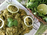 Indian cilantro  chicken/coriander leaves chicken curry /kottimera kodi kura/south indian non vegetarian dishes