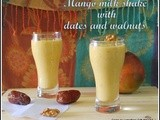 Mango dates walnuts milk shake/delicious mango milk shake with walnuts and dates/summer drinks/kids favorite milk shakes/mahas own recipes