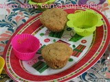 Micro wave egg less carrot cup cakes using silicon moulds/ 2 minutes microwave carrot cake/easy microwave cakes under 3 minutes/lucky draw gift from food maaza