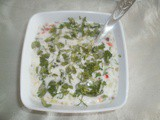 Mix vegtable raita for biryani and pulao