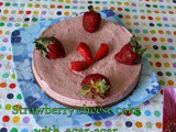 No Bake Egg Less Strawberry Cheese Cake With Agar Agar | Gelatin Free Egg Free Strawberry Chocolate Cheese Cake | Easy Egg Less Strawberry Desserts
