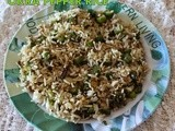 Okra pepper rice/okra fried rice/easy simple rice recipes/Left over rice recipes