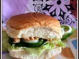Open-Face Chicken Burger with mayonnaise | Burger with chicken and Mayonnaise | Mayonnaise Chicken Burger