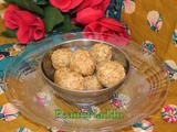 Peanut coconut ladoo/ pallila kobbari laddu/ no cooking raw peanut  coconut sweet balls/ 3 ingredients sweets/ easy diwali sweets