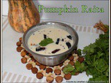 Pumpkin Raita | Gummadi Kaya Perugu Pachadi | Pumpkin In Spiced Yogurt | Quick And Easy Curd Raita Recipes For Rice,Rotis and Chapathi