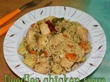 Quick and easy Noodles chicken soup | Kids recipes | Boneless chicken recipes | recipes using noodles | easy dinner recipes | Step by step pictures