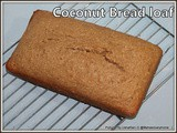 Quick coconut bread | wheat flour coconut bread | coconut bread recipe with sweetened coconut flakes | bolo de coco con coco ralado | coconut bread with desiccated coconut | coconut cake loaf