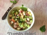 Raw Turnip Salad | Fresh Turnip Vegetable Salad Recipe | Pink Turnip Recipes | Salad For Lunch
