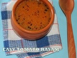 Simple south  indian hot tomato rasam/No dal spicy tomato rasam/indian version of hot tomato soup/step by step pictures