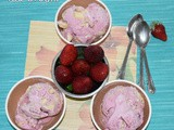 Strawberry cookie ice cream recipe | homemade strawberry cookie ice cream | strawberry desserts | homemade ice cream recipes