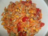 Sweet corn cherry tomato salad