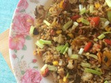 Sweet corn Fried Rice Recipe | Sweetcorn Pepper Fried Rice | Sweet corn Recipes | Lunch Box Ideas | One Pot Meals