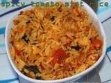 Tomato mint rice/Mint flavored spicy tomato rice/step by step pictures/Mahas Own recipes