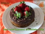 Wheat flour banana beet root chocolate cake/beets banana chocolate healthy cake with oil/Wheat flour cakes/Butter free cakes/step by step pictures
