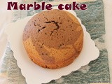 Wheat flour butter less vanilla chocolate marble cake with coffee flavour/easy mini marble cake/olive oil using cakes/bolo de mármore com azeite de oliva