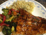 Hoisin Lime Glazed Salmon with roasted Vegetables