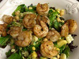 Salad with Grilled Shrimp with a Lime Vinaigrette