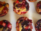Oatmeal berry muffins and tiny pancakes for toddlers
