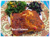 Saffron flavoured salmon