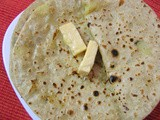 Potato stuffed Indian Bread (Aloo Parathas)
