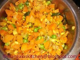 Carrot Peas Poriyal - Carrot Poriyal / Carrot Stir Fry Recipe