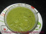 Coriander Leaves Chutney with Onions - Vengaya Kothamalli Chutney - Diabetic Recipes - Green Chutney