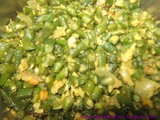 Karamani Poriyal - Long beans stir fry - Low calorie vegetable recipe - Diet recipe - Diabetic recipe