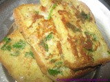 Masala Egg Bread Toast - Egg Masala Toast - Easy Breakfast / Snack Recipe - Diabetic Diet Recipe
