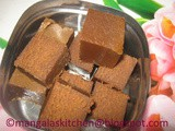 Nellai Karupatti Ghee Mysore Pak - Mysore Pak using Palm Jaggery - Healthy Delicious Festival Sweet Recipe