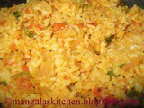 Spicy Tangy Tomato Rice / Thakkali Sadam - Kids Lunchbox Recipe
