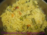 Tamilnadu Special Vegetable Brinji Recipe - Coconut Milk Vegetable biryani - Thengai Pal Brinji sadam