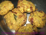 Vazhaipoo Vadai - Banana Flower Vada - Lunch Side dish / Evening Snack Recipe