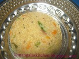 Wheat Rava Upma - Samba Ravai Upma mixed with Veggies - Healthy Breakfast & Dinner Recipe - Diabetic Recipe