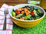 Kale salad with tahini & lemon dressing