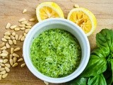 Lemon pesto, walnut pesto & basil pesto