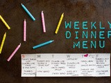 Marin mama's weekly dinner menu
