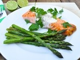 Salmon with almond-lime yogurt sauce