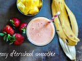 Strawberry, mango & banana smoothie