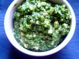 A fashion for green: parsley, walnut and stilton pesto
