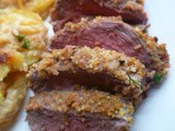 A quick but soothing roast: lemon and herb crusted lamb rumps