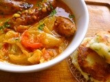 A quick midweek supper: sausage and roasted fennel stew