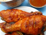Asian-inspired flavours: spicy marinated chicken in a parcel with chorizo and mushrooms
