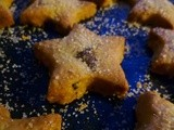 Clementine and dark chocolate chip shortbread stars