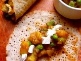 Fancy a weekend food project? dosas with a pea and potato curry and paneer