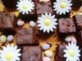 Leftover easter egg brownies