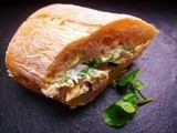 Roast  chicken, watercress and nut sandwich