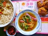 The meatball magnate's prawn balls with vietnamese noodle soup - random recipe #27