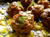 Yotam ottolenghi's baharat-spiced beef and lamb meatballs with lemony broad beans