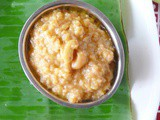 Godhuma rava sweet pongal /broken/cracked wheat rava pongal